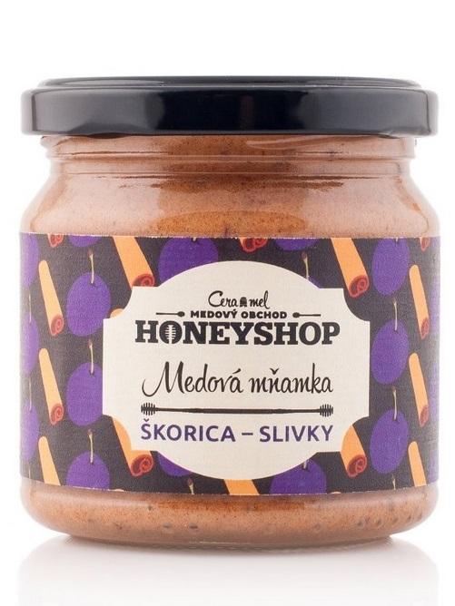 Medová mňamka ŠKORICA - SLIVKY 250g