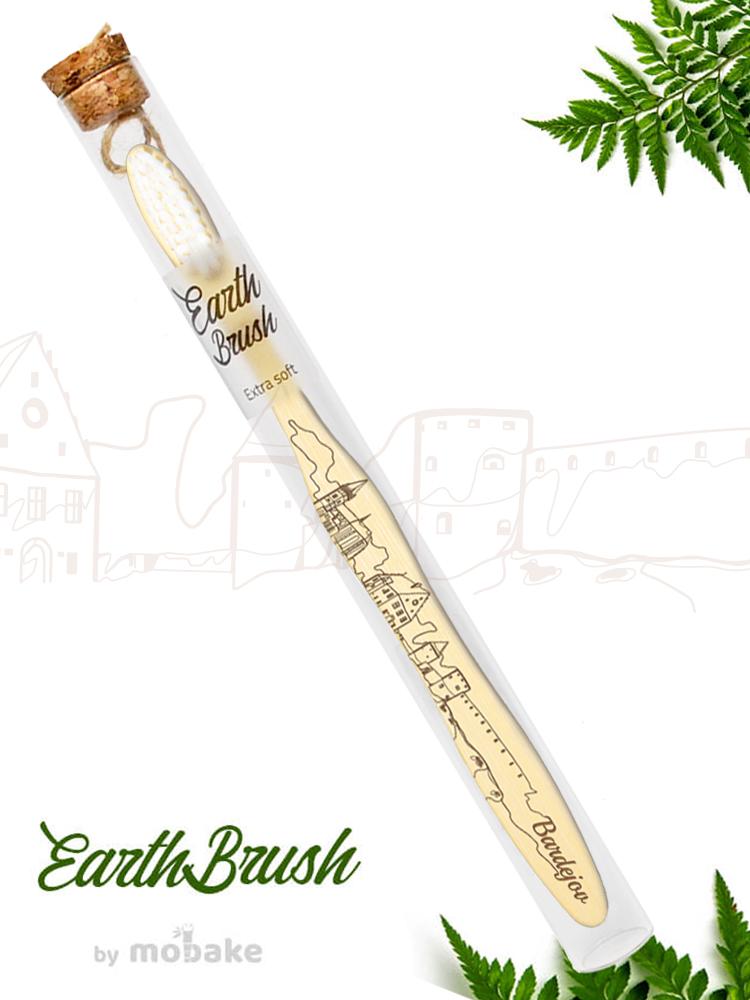 Mobake EarthBrush Bardejov - bambusová zubná kefka ako suvenír 3010 Extra soft