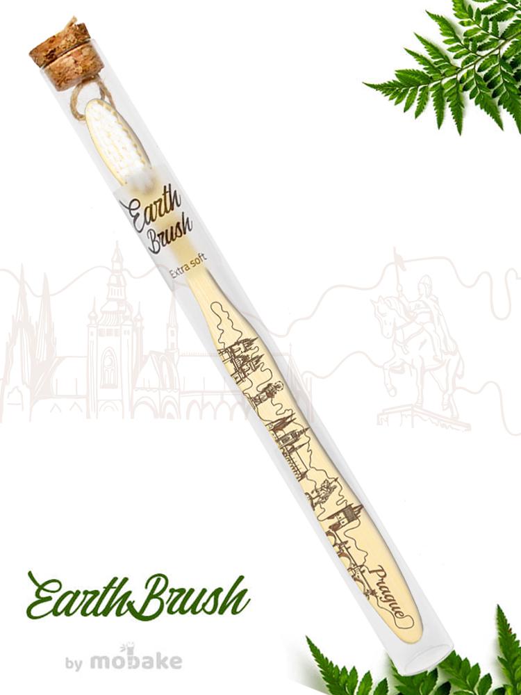 Mobake EarthBrush Praha - bambusová zubná kefka ako suvenír 3010 Extra soft