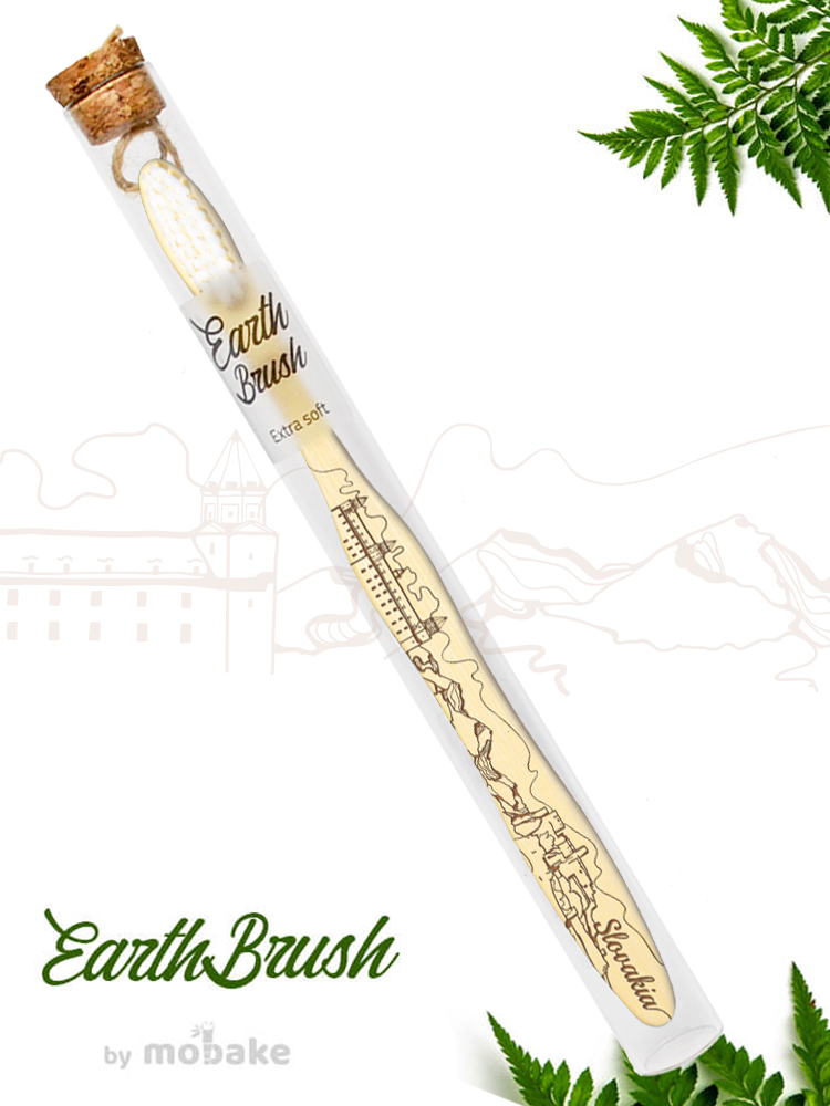 Mobake EarthBrush Slovakia - bambusová zubná kefka ako suvenír 3010 Extra soft