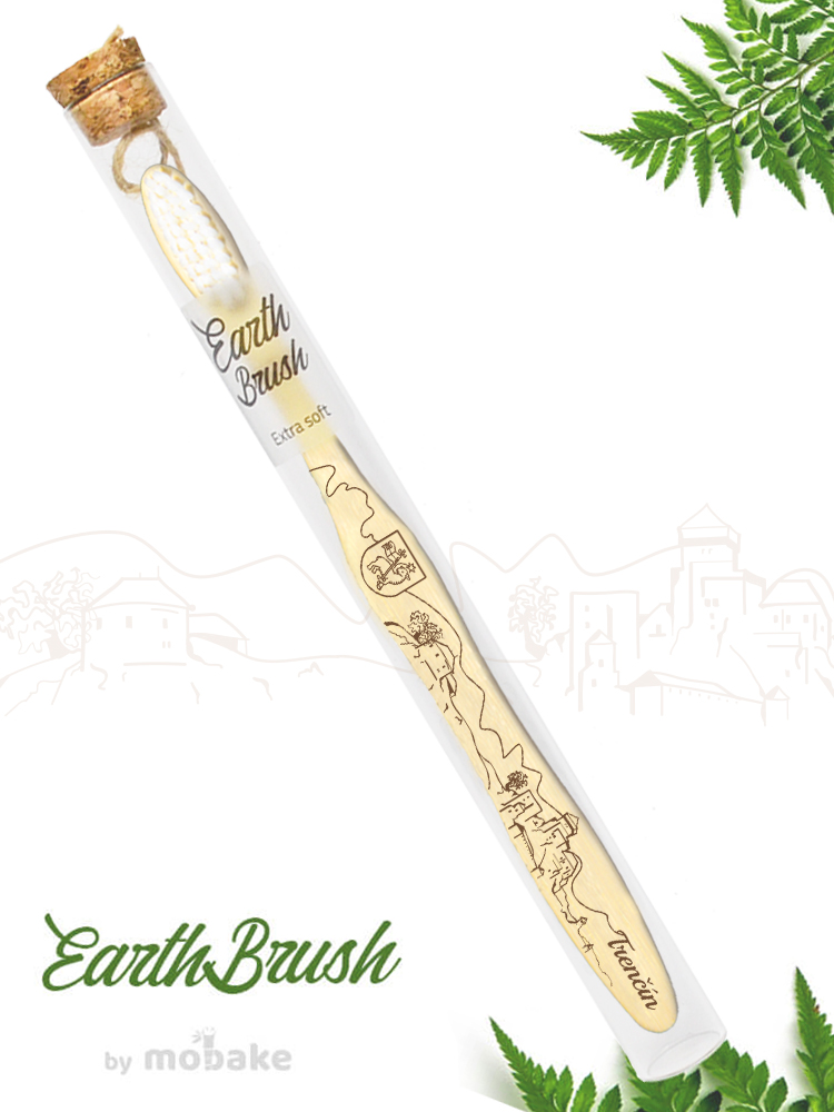 Mobake EarthBrush Trenčín - bambusová zubná kefka ako suvenír 3010 Extra soft