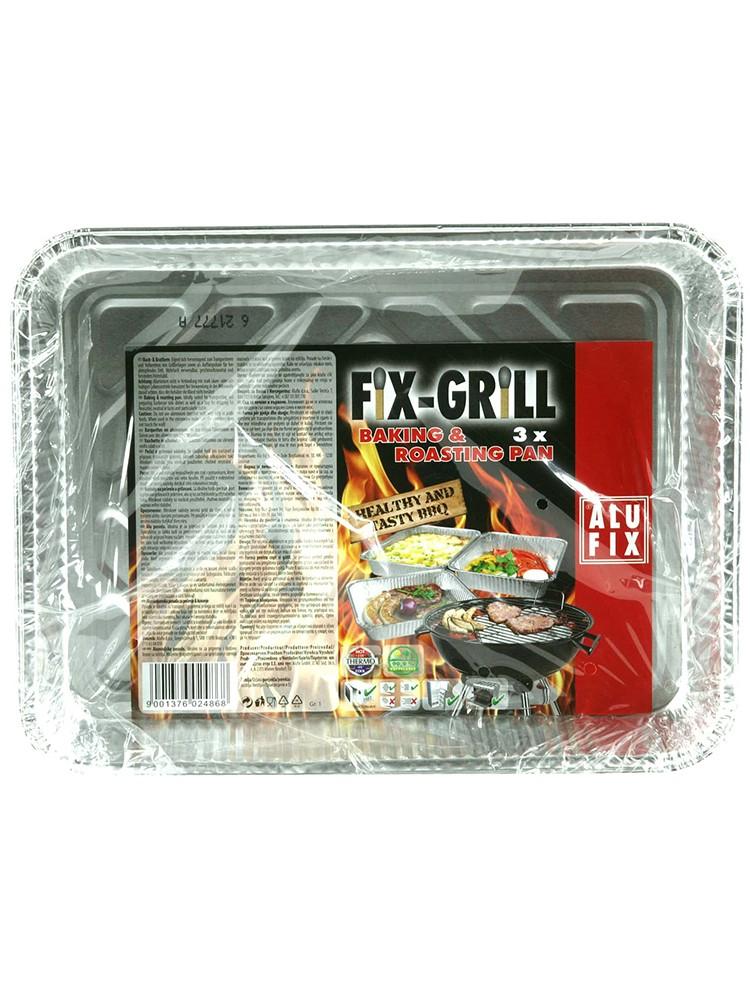 AluFix Hliníkové grilovacie pekáče malé 23 x 18cm 3ks