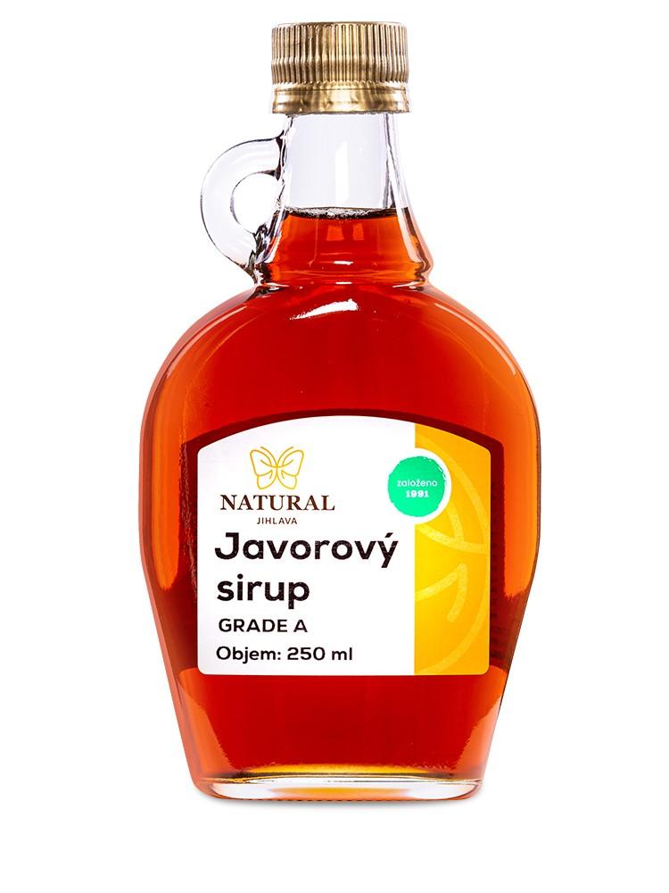 Natural Jihlava Javorový sirup Grade A 250 ml