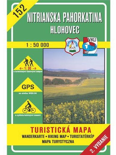 Nitrianska pahorkatina - Hlohovec 152 Turistická mapa 1:50 000