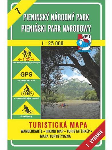 Pieninský národný park 7 Turistická mapa 1:25 000