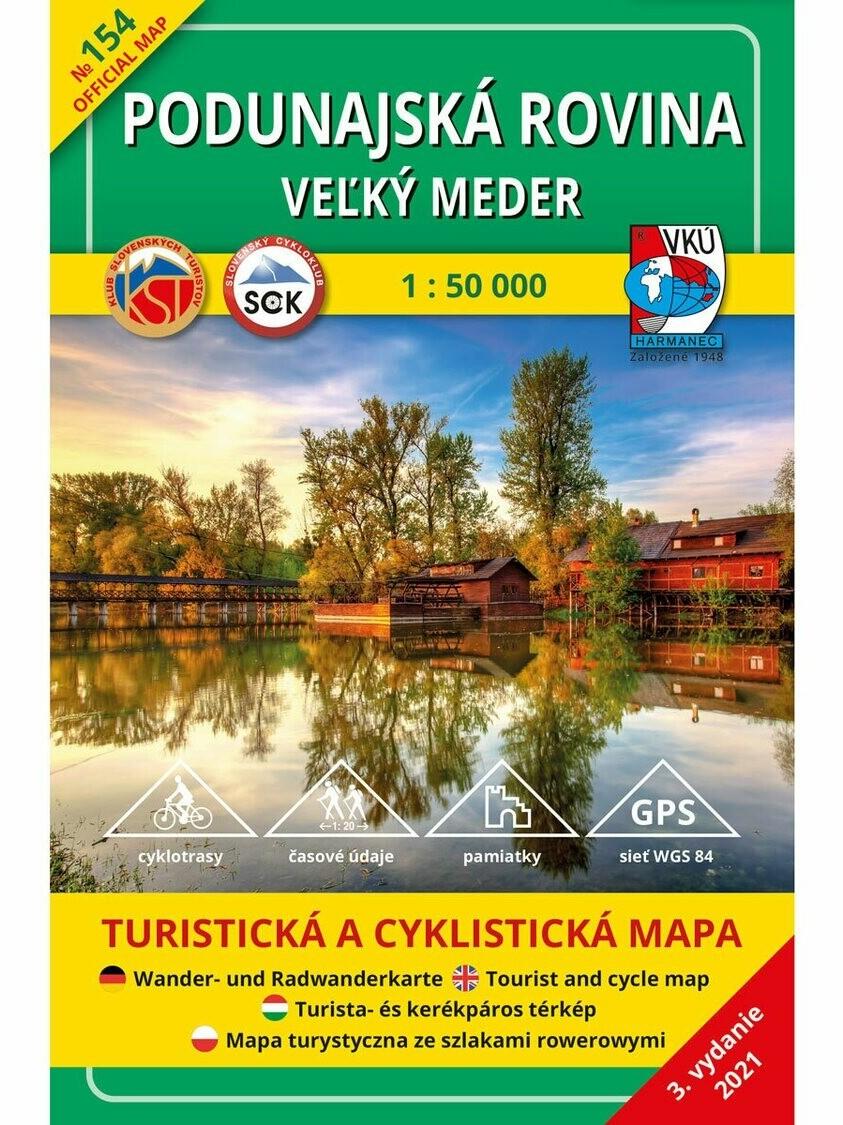 Podunajská rovina - Veľký Meder 154 Turistická mapa 1:50 000