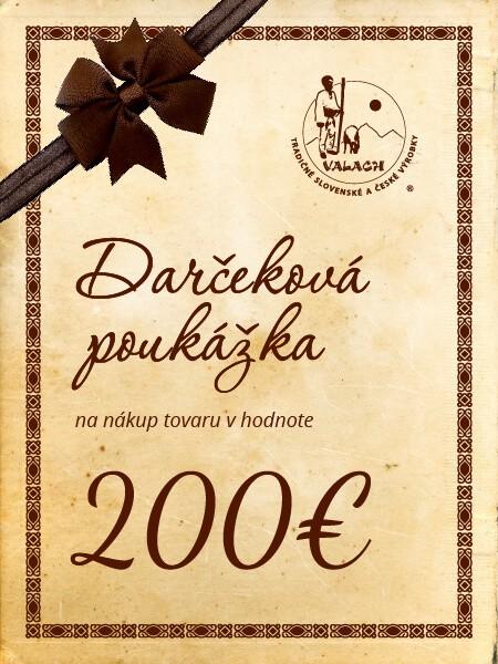 Darčeková poukážka 200 eur