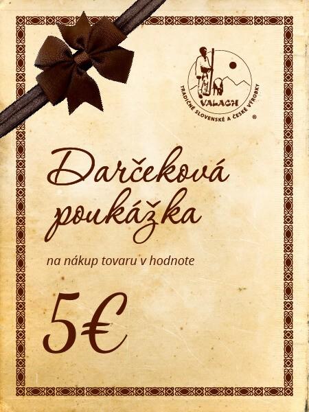 Darčeková poukážka 5 eur