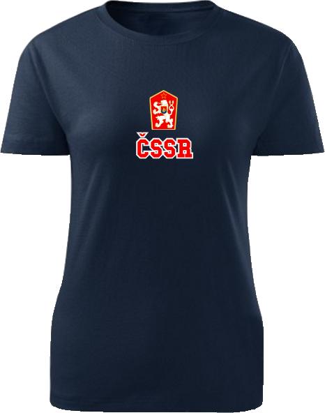 Tričko ČSSR Dámske klasik Námornícke modré