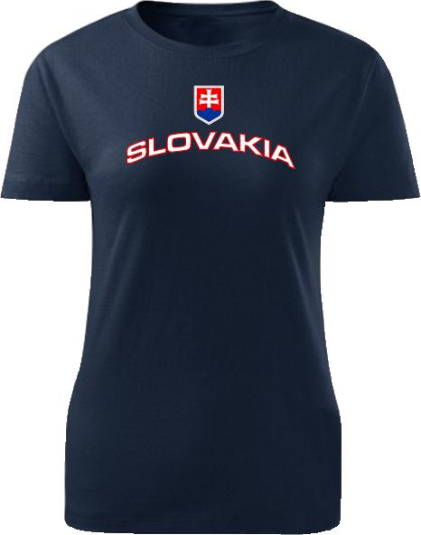 Tričko Slovakia Dámske klasik Námornícke modré