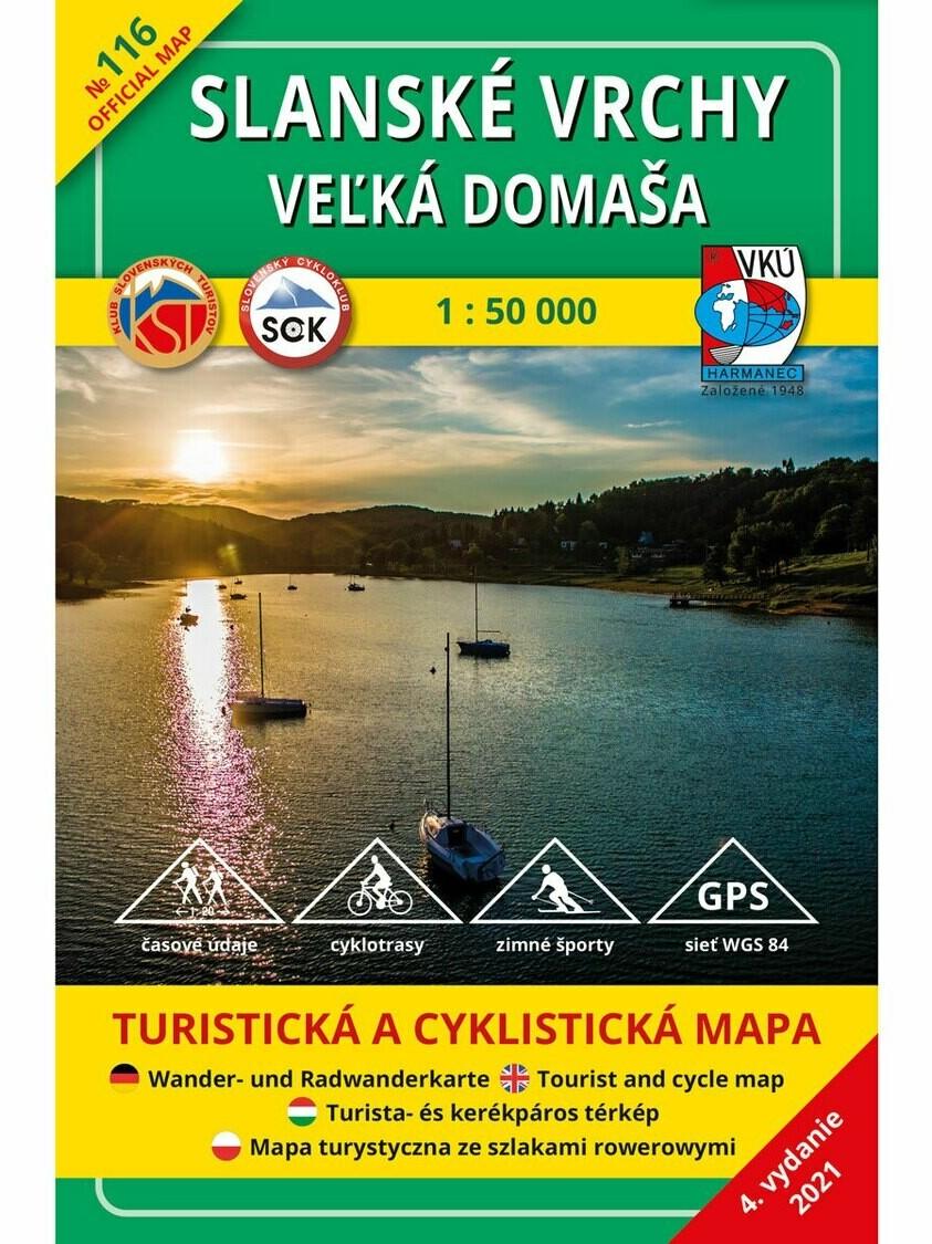Slanské vrchy - Veľká Domaša 116 Turistická mapa 1:50 000