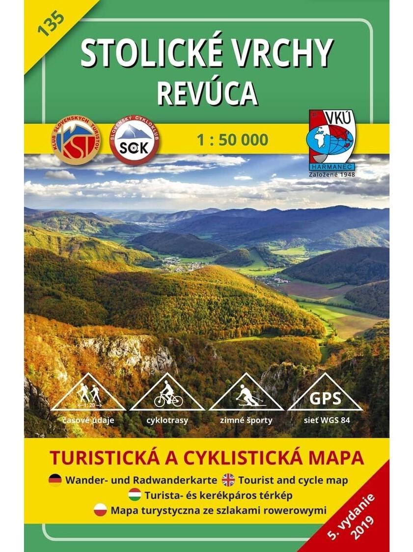 Stolické vrchy - Revúca 135 Turistická mapa 1:50 000