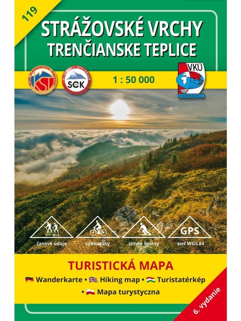 Strážovské vrchy - Trenčianske Teplice 119 Turistická mapa 1:50 000
