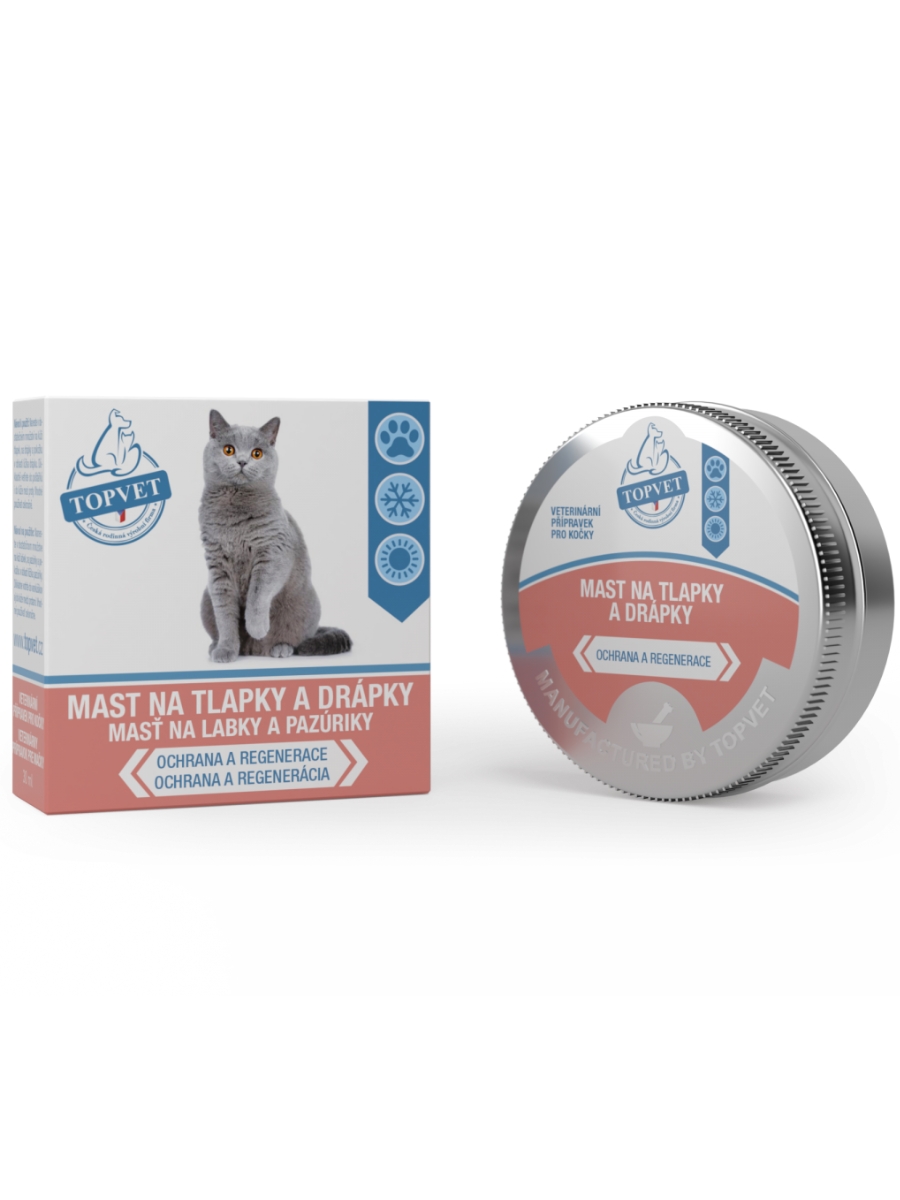 Topvet Masť na labky a pazúriky pre mačky 30ml