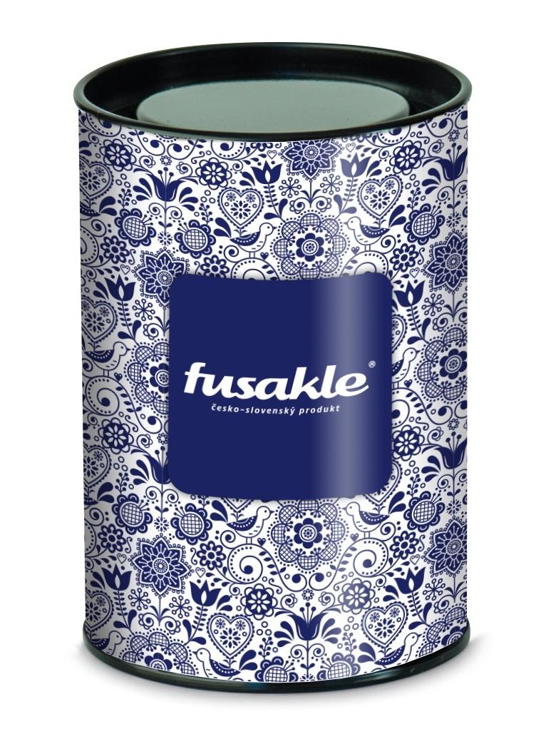 Fusakle darčeková tuba modrotlač