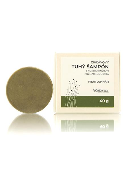 Bellcoria Tuhý žíhľavový šampón s kondicionérom Rozmarín a Limetka 40g