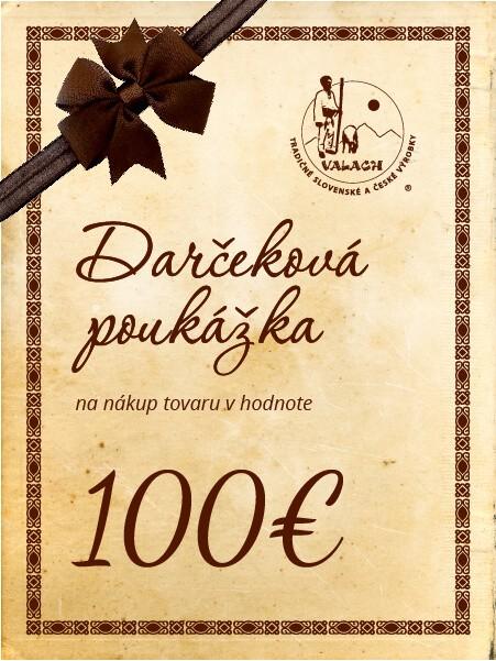 Darčeková poukážka 100 eur
