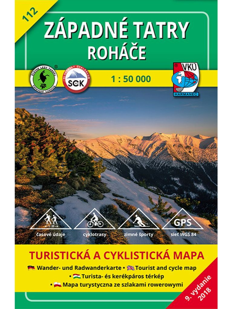 Západné Tatry - Roháče 112 Turistická mapa 1:50 000