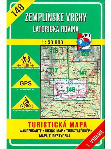 Zemplínske vrchy - Latorická rovina 148 Turistická mapa 1:50 000