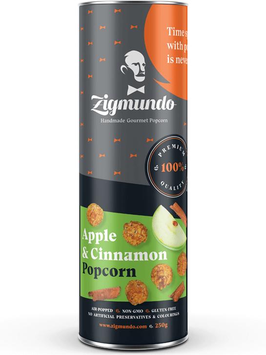 Zigmundo Apple & Cinnamon popcorn 250g