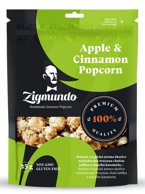 Zigmundo Apple & Cinnamon popcorn 35g