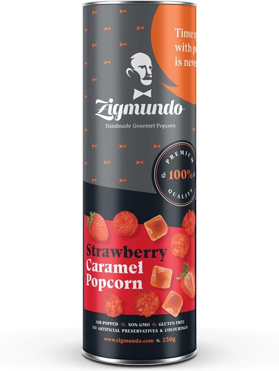 Zigmundo Strawberry caramel popcorn 250g