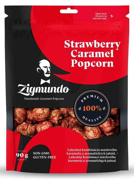 Zigmundo Strawberry caramel popcorn 35g